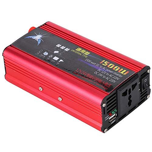 Convertidor De Corriente, Inversor De Corriente Del Sistema De Ventilador De Refrigeración Inteligente Para Adaptador De Onda Sinusoidal Modificada DC 12V / 24V A AC 220V