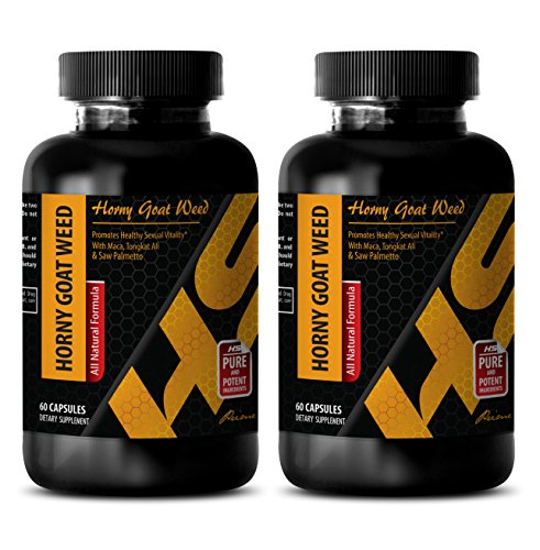 Sex Drive for Women - Horny Goat Weed (All Natural Formula) - Horny Goat Weed Best - 2 Bottle 120 Capsules