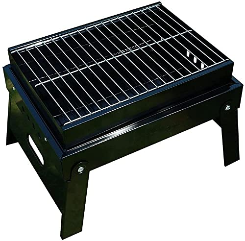 Parrilla de carbón al aire libre, Estufa plegable gruesa, Parrilla portátil al aire libre de la barbacoa, Mini mesa plegable del hogar Barbacoa-38.5*29