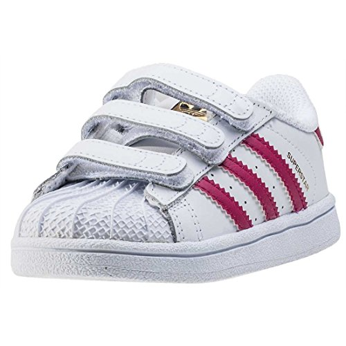 adidas - Superstar Foundation, Sneakers a collo basso infantile, Multicolore (Ftwwht/Bopink/Ftwwht), 22