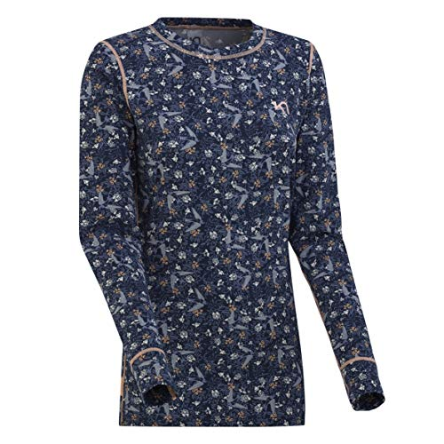 Kari Traa Women's Fryd Base Layer Top - Long Sleeve Synthetic Thermal Shirt Naval Small