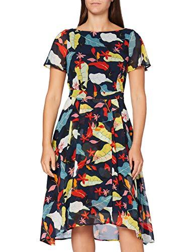 ESPRIT Collection Damen Esprit Kleid, 050EO1E317, Blau(403/NAVY 4), 38