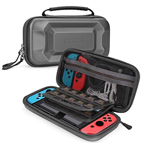 Moocoo Carrying Case for Nintendo Switch, Dual Protection Switch Hard Cover Portable with Large Capacity Protective Travel Shell for Nintendo Switch Console & Accessories with 20 Game Cartridges