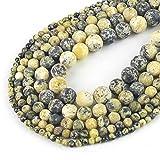 Turquoise Natural Stone Beads mar Sedimento suelto Malachite Beads para la fabricación de joyería DIY-Turquesa mate 1_Perlas de 10mm 37pcs