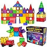 Desire Deluxe Ensemble de Blocs et Briques Magnétiques de Construction - Jouet éducatif pour enfants, filles et garçons 3, 4, 5, 6, 7 ans - Jeux d'apprentissage de construction 57 pièces
