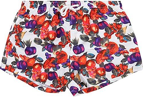 DFLYHLH Men's Printed Board Shorts Quick Dry Beach Shorts Swimming Shorts Surf Drawstring Pocket Shorts