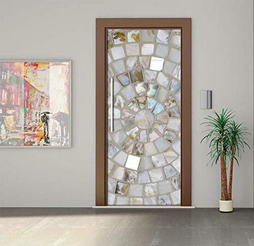 Türaufkleber 3D Türsticker Selbstklebendes Papier Dekorative Wandsticker Wandfarbe Stone Road