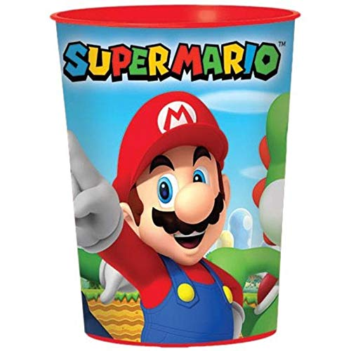 Super 421554 Mario Party-Reihe Super Mario Kunststoffbecher 473 ml. mehrfarbig