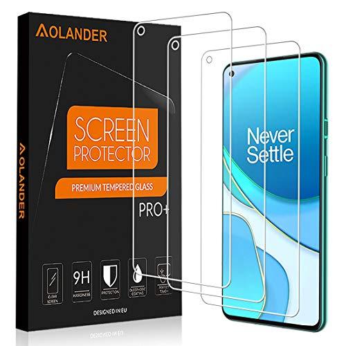[3 Pezzi] POVINMOS Pellicola Protettiva per OnePlus 8T [senza bolle] [anti-impronta digitale] [resistenza ai graffi] [HD]pellicola in vetro temperato