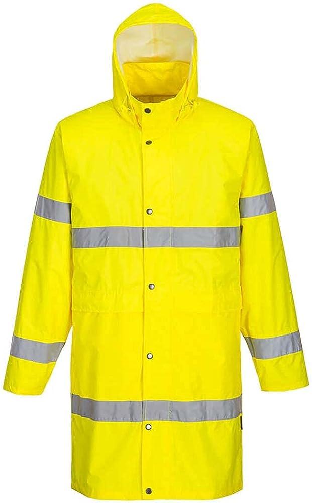 Portwest Workwear Mens Hi-Vis Long Coat