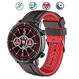 Geeky Smartwatch Hombre Reloj Inteligente IP68 Impermeable con Cronómetro Pulsera Actividad de Fitness con Podómetro Smartwatch Niños para Xiaomi Huawei y iOS Android (Negro)