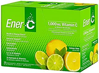 Ener-C Vitamin Drink Mix, Lemon Lime, 1000 Mg, 30 Count