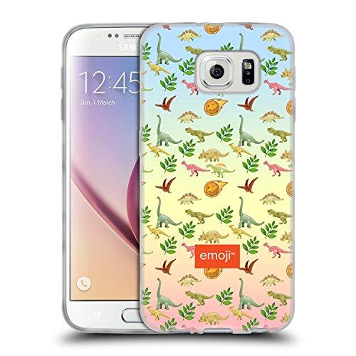 Head Case Designs Oficial Emoji Meteoro Dinosaurios Carcasa de Gel de Silicona Compatible con Samsung Galaxy S6