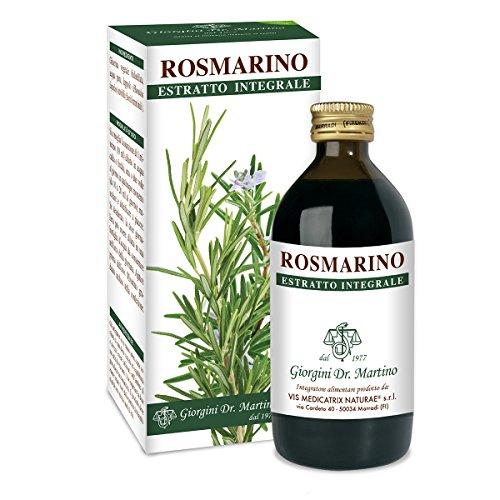 Dr. Giorgini Integratore Alimentare, Rosmarino Estratto Integrale Liquido Analcoolico - 200 ml