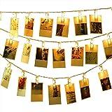 XIYUN LED ストリングライト 20LED写真飾りライト イルミネーションライト 写真クリップ 飾りライト 電池式 DIY吊り下げる飾りライト 誕生日 新年 クリスマス パーティー 結婚式 装飾ライト