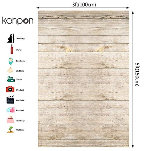 KonPon Wood Backdrop Photography Background Vinyl Backdrop Wood Floor Photography Backdrops Studio Photo Props Background KP-082