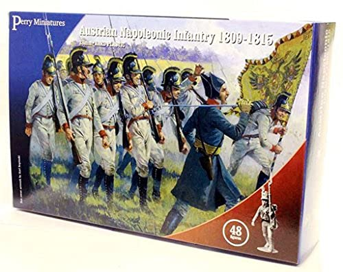 Napoleonic Wars Plastic Toy Soldiers Kit 28mm Austrian Napoleonic Infantry 1809-15 (48) Model Figures Wargaming Set