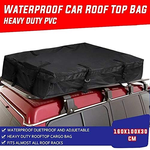 DSSQABR-11 Roof racks & boxes Waterproof Car Roof Top Bag Travel Cargo Luggage Carrier Black 160x100x30cm Super-Large Ployester Top Luggage Rack Cargo Trunk