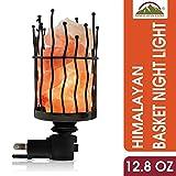 Himalyan Glow Himalayan Glow Natural Pillar Style Salt Lamp Night Light with Pink Salt Chunks   360...