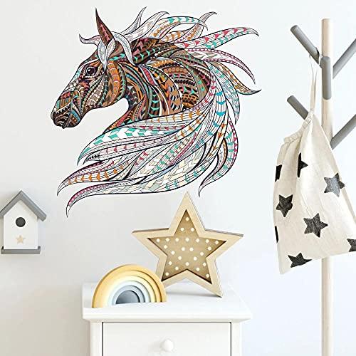 Color Patrón De Animales Rompecabezas Caballo Pegatinas De Pared Habitación De Los Niños Sala De Estar Dormitorio Estudio Decoración Pegatinas