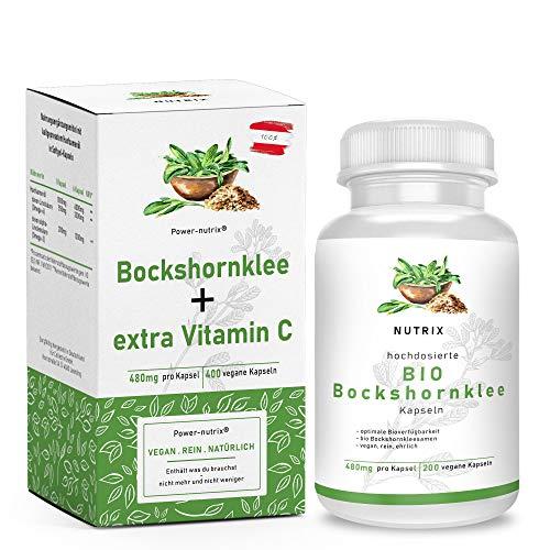 Bockshornklee 200 Kapseln + zusätzlich Vitamin C | aktivierte Bockshornkleesamen aus ÖSTERREICH kein Import - vegan – hochdosiert – gemahlen