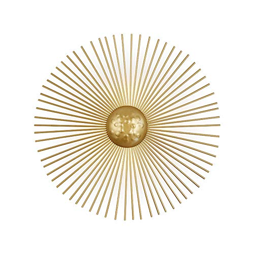 Moderne ronde LED-wandlamp, binnen goudkleuren, wandlampen, creatieve slaapkamer, decoratieve wandlampen, metaal, verlichting voor restaurant, woonkamer, hal, warm licht 5 W, Ø30 cm