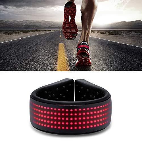 Hisome Schuh Licht Clip, Schuh LED Clip, Wasserdicht IP67 Schuhclip LED USB Lade Sicherheit LED-Licht Warnleuchten Clip füR Die Nacht, Blinklicht Clip Zum Joggen Radfahren Wandern Wandern(Rot)