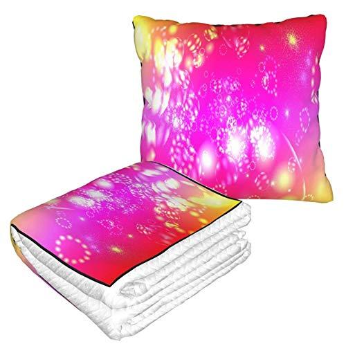 AEMAPE Interesante Manta de Almohada de Fondo de Anime para Coche, Manta de sofá, Manta de Almohada de Viaje, cálida y Gruesa, Almohada de Felpa para el Cuello de avión para dormir-7Y