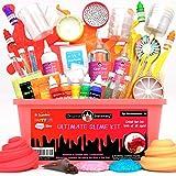 Original Stationery Kit de Slime para Elaboración DIY con Complementos Slime Unicornio, Fluffy, Glitter, Purpurina, Nube, Mantequilla, Espuma y Más para Niñas y Niños