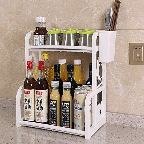 Condiment Assaisonnement Étagère Cuisine Rack Comptoir De Stockage Artefact Boîte Fournitures Ménage Daquan en Plastique