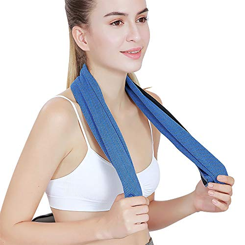 """Cooling Towel (40""""x12""""), Ice Towel for Neck, Soft Breathable Chilly Towel, Microfiber Towel for Yoga, Sport, Running, Gym, Workout,Camping, Fitness, Workout & More Activities MJ-0002"""