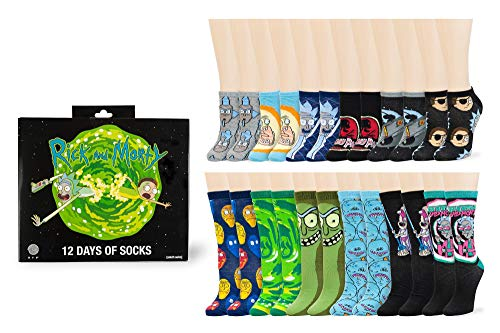 Rick and Morty Men's 12 Days of Socks Christmas Advent