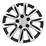 Pilot WH547-14S-B Universal Fit Premier Toyota Camry Style Silver 14 Inch Wheel Covers - Set of 4