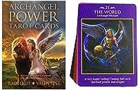 タロット占い、Archangel Power TarotカードフルイングリッシュPDFガイドブックテーブルボードゲームトランプファミリーフレンドパーティーゲーム