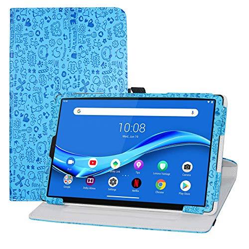 """LFDZ Cover Lenovo Tab M10 Plus,Slim Girevole Smart 360 Gradi di Rotazione Case Cover Custodia Protettiva per 10.3"""" Lenovo Tab M10 Plus/Tab M10 Plus 2nd Gen/Smart Tab M10 Plus,Azzurro"""