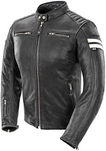 Joe Rocket Classic 92 Women s Leather Motorcycle Jacket Black White Medium product image