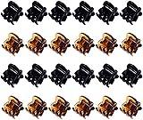 Mini Clip per Capelli,Piccoli Mollettoni Capelli 24 Pack Mollette en Plastica Mollettoni Orchidea Pinze per Artigli per Ragazze e Donne (Nero e Marrone)