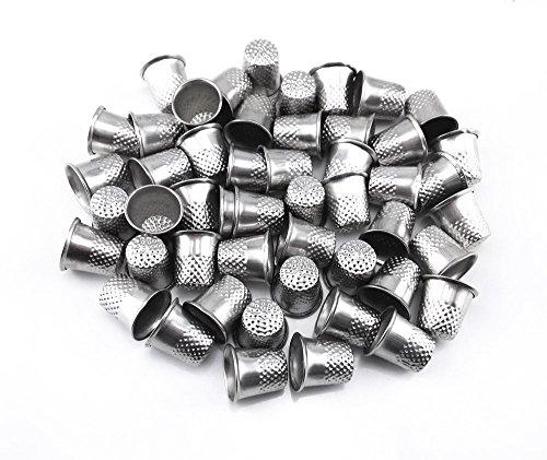 honbay 50Silber Nähen Quilting Metall-Fingerhüte DIY Craft Fingerschutz