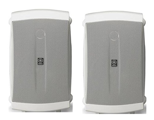 Yamaha High-Performance 120 Watt Natural Surround Sound 2-Way Indoor/Outdoor Weatherproof Home Theater Speakers (Pair)