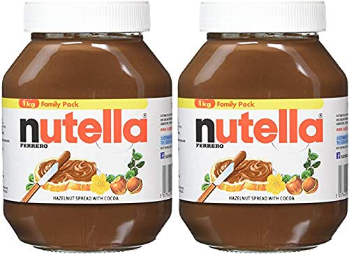 Nutella Haselnuss, 1 kg, Schokoladencreme, 2 Stück