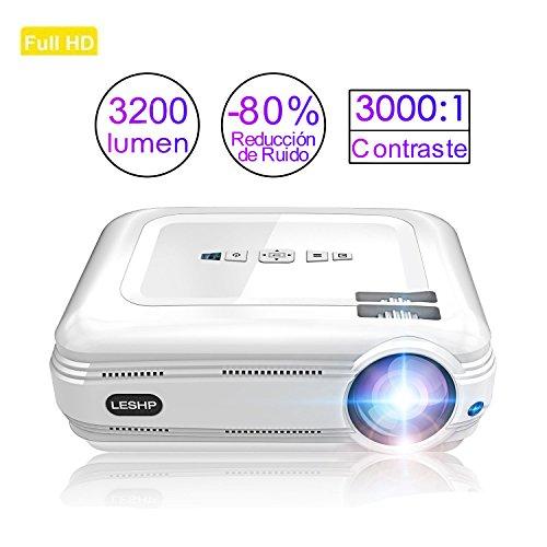 Proiettore, LESHP 3200 lumen proiettore Full HD 1080P Mini proiettore portatile con supporto HDMI/VGA/AV/USB PC Computer XBOX TV Ideale Per Home Theatre TV