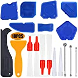 20 Pieces Caulking Tools Suit Silicone Sealant Finishing Tool Grout Scraper Caulk Remover for Bathroom Kitchen and Frames Sealant Seals (Blue)