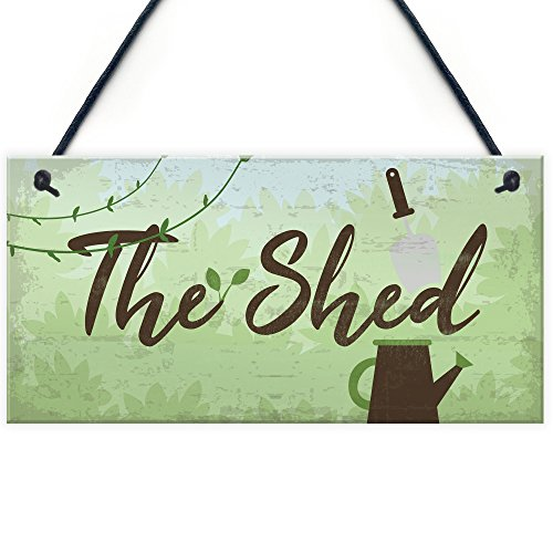 RED OCEAN The Shed Signs And Plaques Greenhouse Garden Sign Dad Grandad Mum Nan Birthday Gift