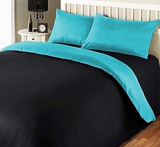 iBed Home 180 TC Two Tone Comforter Set, King - 240 x 260 cm, 2BLCKAQUA-KING, 6 Pieces