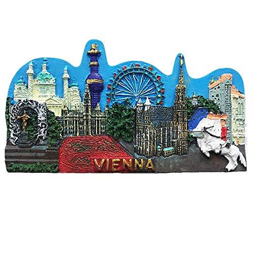 Wien Österreich Kühlschrankmagnet, Reise-Souvenir, Geschenkkollektion, Heimküchendekoration, Magnetaufkleber, Kühlschrankmagnet