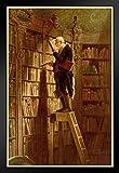 Carl Spitzweg The Bookworm Black Wood Framed Poster 14x20