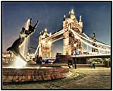 Wallario Wandbild London - Tower Bridge bei Nacht in
