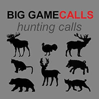 Big Game Hunting Calls App - The Ultimate Hunting Calls App For Whitetail Deer, Elk, Moose, Turkey, Bear, Mountain Lions, Bobcats and Wild Boar - BLUETOOTH COMPATIBLE