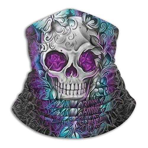 Butterfly Cool Sugar Skull Designs Unisex Microfiber Neck Warmer Headwear Face Scarf Mask For Winter Cold Weather Mask Bandana Balaclava