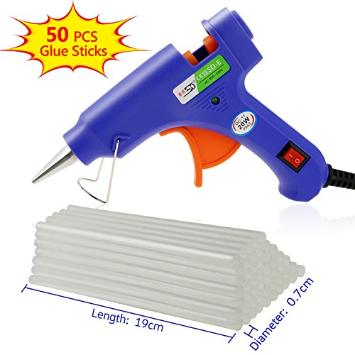 Philonext Hot Melt Glue Gun with 50 Pcs 190mm Glue Sticks
